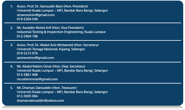 THE OFFICE BEARERS OF 2013-2015